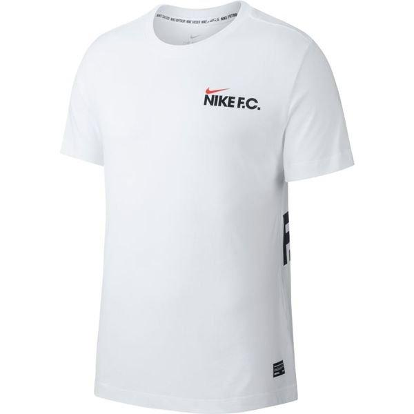 e634dd3f Nike F.C. Trenings T-Skjorte - Hvit/Sort | www.unisportstore.no