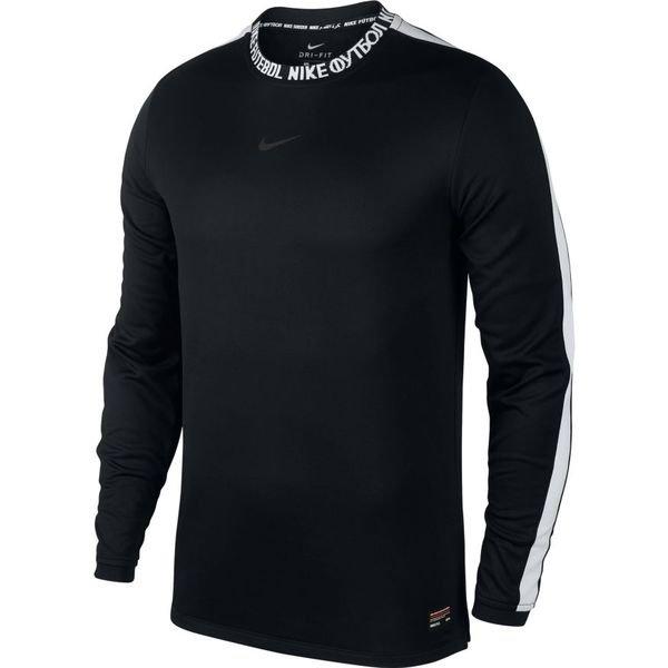 8137397f0a33f Nike F.C. T-shirt d'Entraînement Dry Manches Longues - Noir/Blanc ...