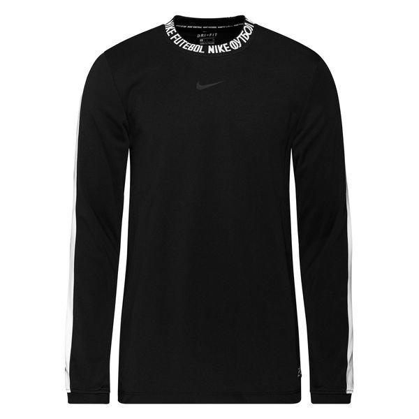 Nike F.C. Training T Shirt Dry LS BlackWhite | www