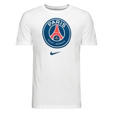 Paris Saint-Germain T-Shirt Crest - Vit/Blå