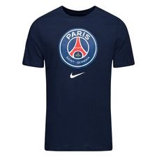 Paris Saint-Germain T-Shirt Crest - Navy/Vit