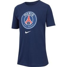 Paris Saint-Germain T-Shirt Crest - Navy/Vit Barn