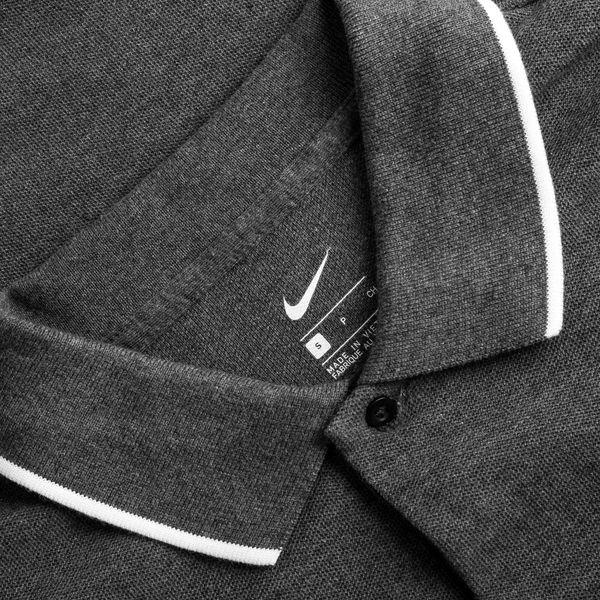 Nike Polo Team Club 19 GrauWeiß