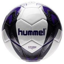 hummel fodbold storm - hvid/sort/lilla - fodbolde