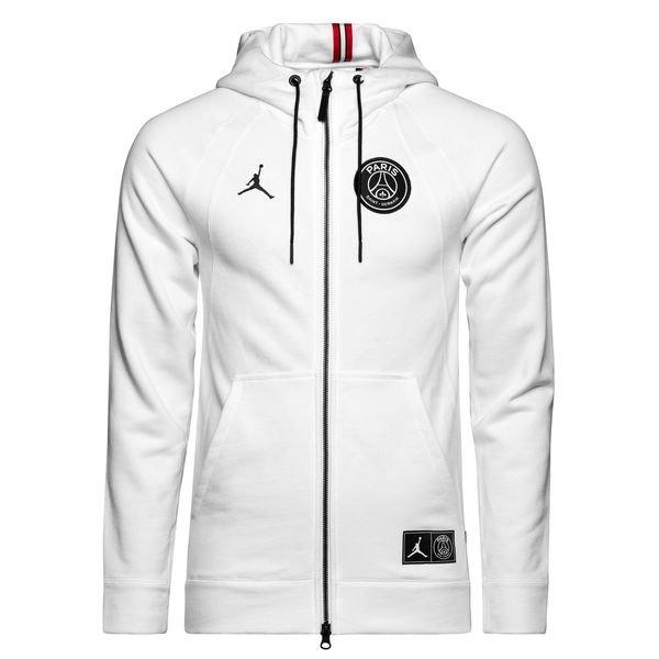 Nike Hoodie Fz Jordan X Psg White Limited Edition Www Unisportstore Com