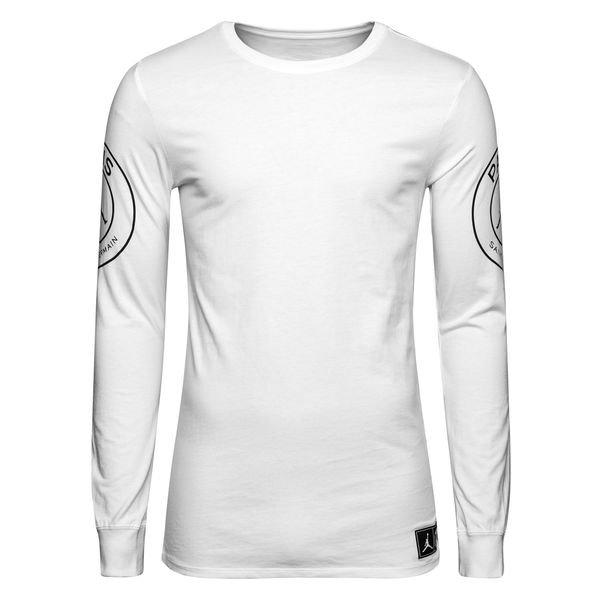 outlet boutique fashion authentic quality Nike T-Shirt Statement Jordan x PSG - White L/S LIMITED EDITION