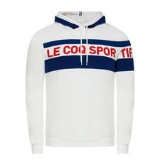 Le Coq Sportif Hoodie Essential – Wit/Blauw/Rood