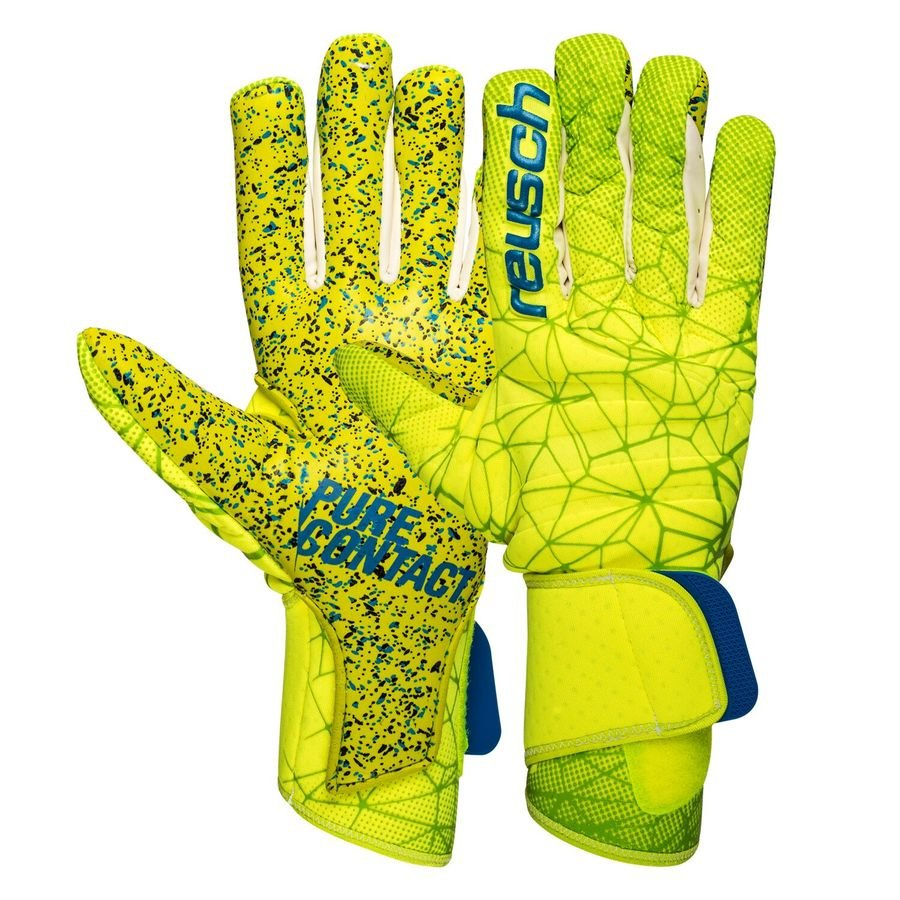 reusch goalkeeper gloves pure contact g3 fusion pro - lime green safety  yellow - goalkeeper ... 3075557672d0
