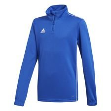 adidas Trainingsshirt Kwartrits Core 18 - Blauw/Wit Kinderen