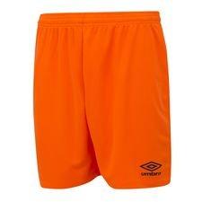 umbro shorts club - orange/svart barn - fotbollsshorts