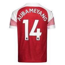 arsenal heimtrikot 2018/19 aubameyang 14 - fußballtrikots