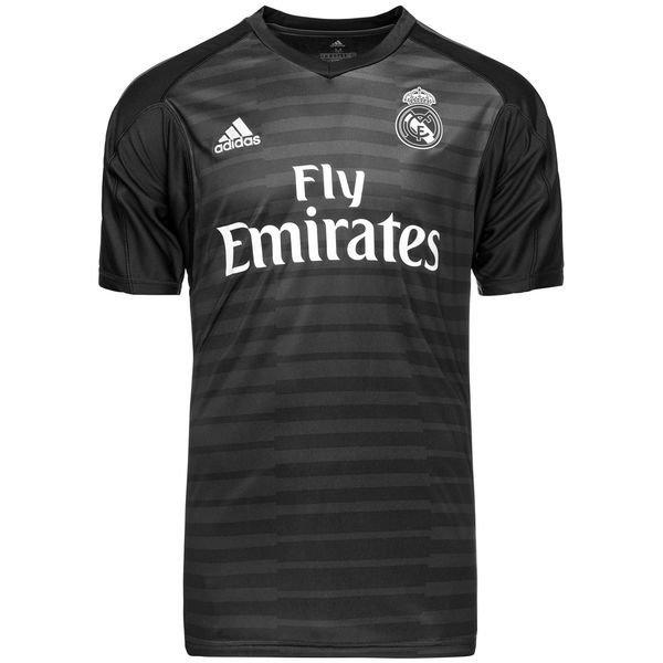 brand new 73e07 92f8b Real Madrid Goalkeeper Shirt Home 2018/19 Kids COURTOIS 25 ...