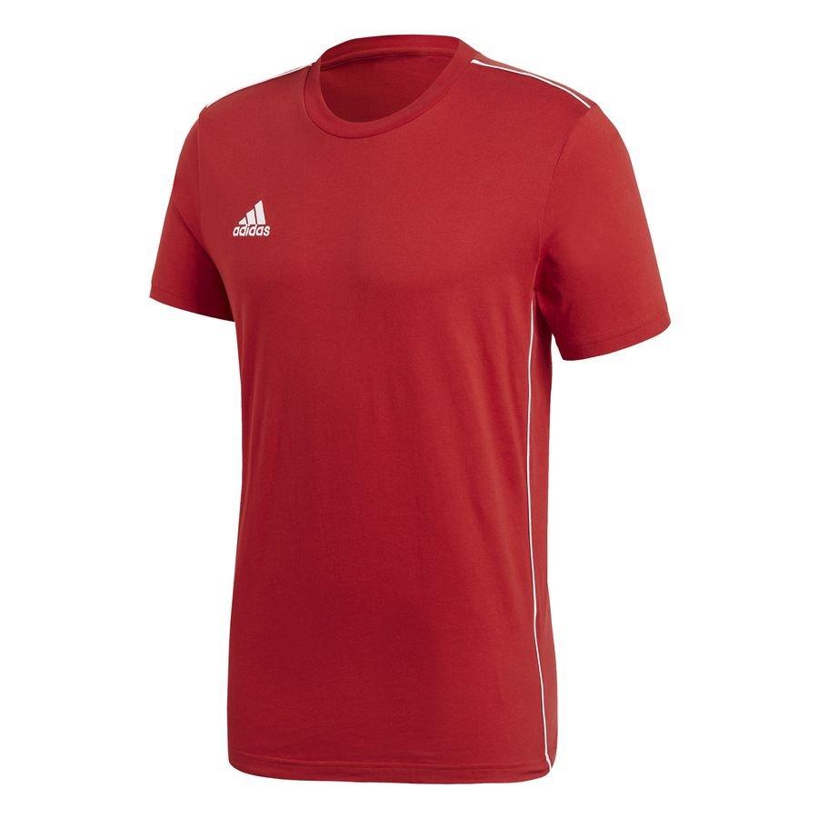 adidas Trænings T-Shirt Core 18 - Rød/Hvid Børn thumbnail