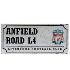 Liverpool Skylt Anfield Road - Vit