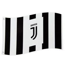 Juventus Flagga Logo - Svart/Vit