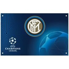 Inter Champions League Flagga - Blå