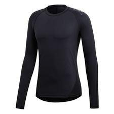 Kast dig ud i træningen i denne trænings-T-shirt til mænd. Den langærmede tee har støttende Alphaskin for at give en fastlåst pasform, der hjælper dig med at ho