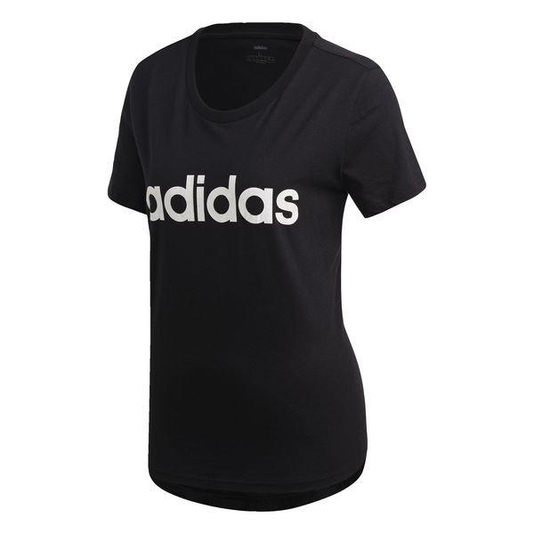 adidas T Skjorte Essentials Linear SortHvit Dame | www