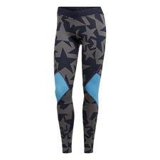 Disse iøjnefaldende tights er designet til at følge kroppens bevægelser igennem enhver øvelse, uanset om det er yoga eller cykling. De er lavet i strækbart stri