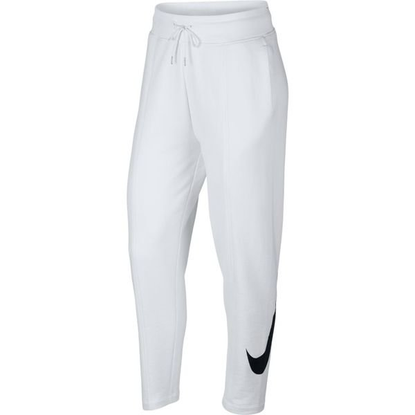 Nike Jogginghose NSW Swoosh FT - Weiß/Schwarz Damen