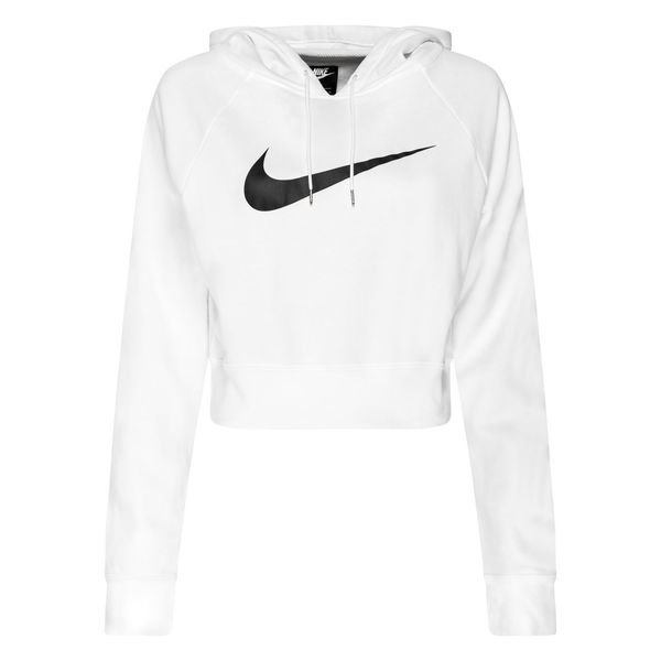 sneakers for cheap exquisite style wholesale price Nike Hoodie NSW FT Crop - Weiß/Schwarz Damen