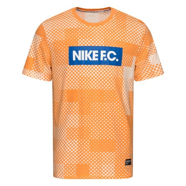 Nike F.C. T Shirt Dry Seasonal Block Orange