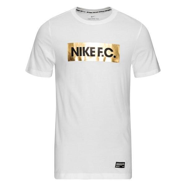 t shirt nike blanc logo dorée