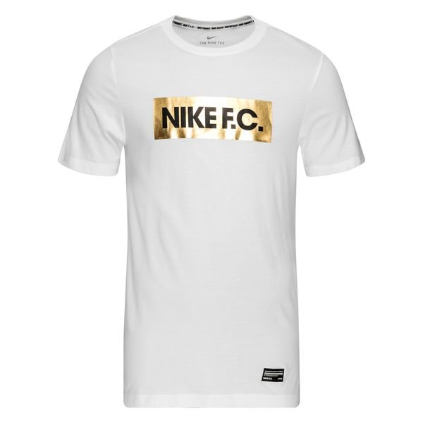Nike F.C. T Shirt Dry Block WhiteGold