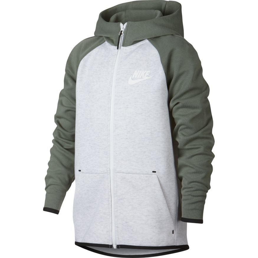Nike Hættetrøje Tech Fleece Essentials FZ - Grå/Sort/Hvid Børn thumbnail