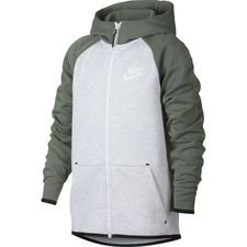 f1d4ca0ae7c Nike Hoodie Tech Fleece Essentials FZ - Birch Heather/Black/White Kids