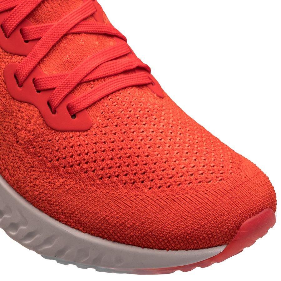 Nike Chaussures de Running Epic React Flyknit 2 RougeRougeGris Enfant