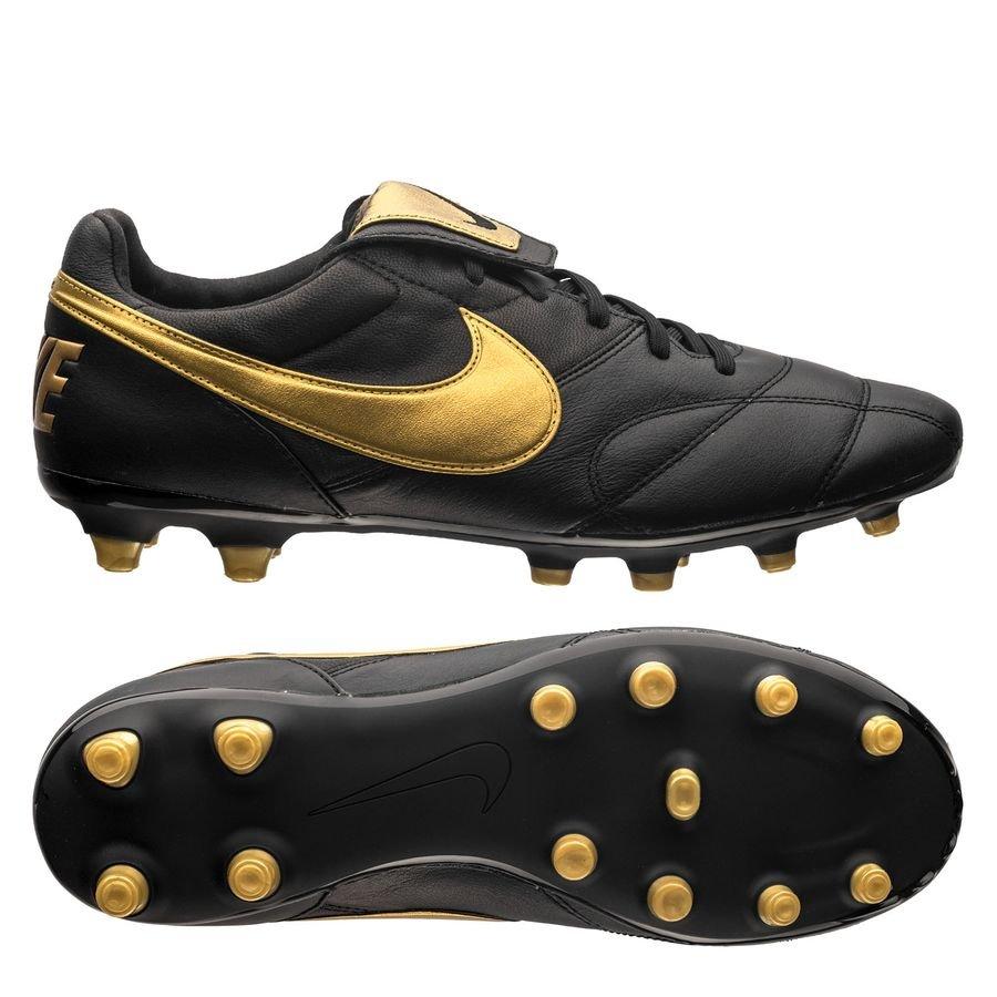 Nike Premier II FG - Sort/Guld