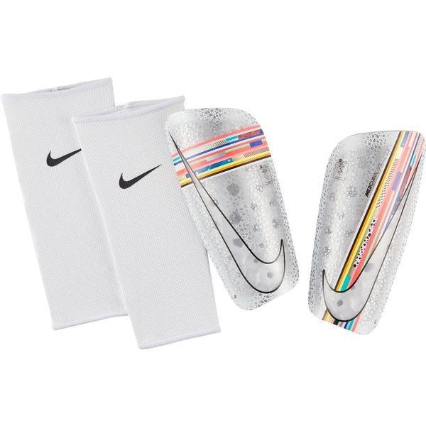 2018 shoes exquisite style buy sale Nike Protège-Tibias Mercurial Lite LVL UP - Blanc/Multicolor/Noir