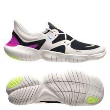 more photos 109b8 68388 Nike Löparskor Free 5.0 - Vit Neon Svart Blå