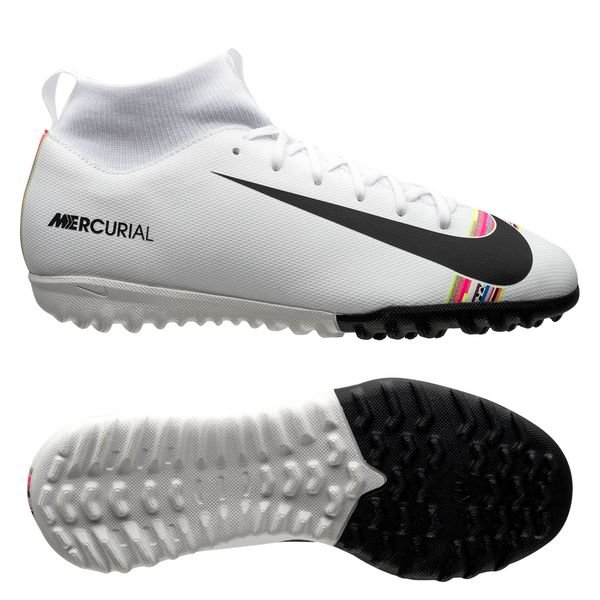 Nike Mercurial Superfly 6 Academy TF LVL UP GrisNoirBlanc Enfant
