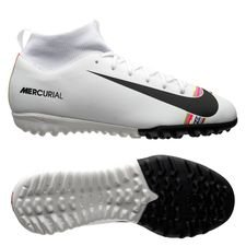 Nike Mercurial Superfly 6 Academy TF LVL UP - Grå/Svart/Vit Barn