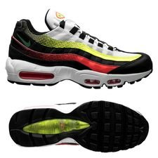hot sales 54196 f391b Nike Air Max 95 - Sort Rød Neon