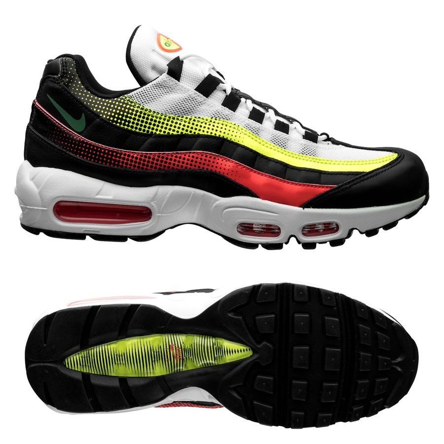 new product 33a99 39690 Nike Air Max 95 - Black Bright Crimson Volt   www.unisportstore.com
