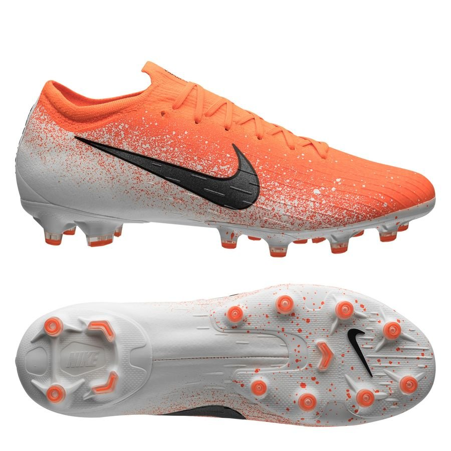 Nike Mercurial Vapor 12 Elite AG-PRO - Orange/Hvid