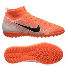 Nike Mercurial Superfly 6 Academy TF Euphoria - Orange/Hvid Børn