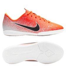 buy online 1d306 0d527 Nike Mercurial Vapor 12 Academy IC Euphoria - Orange Blanc Enfant