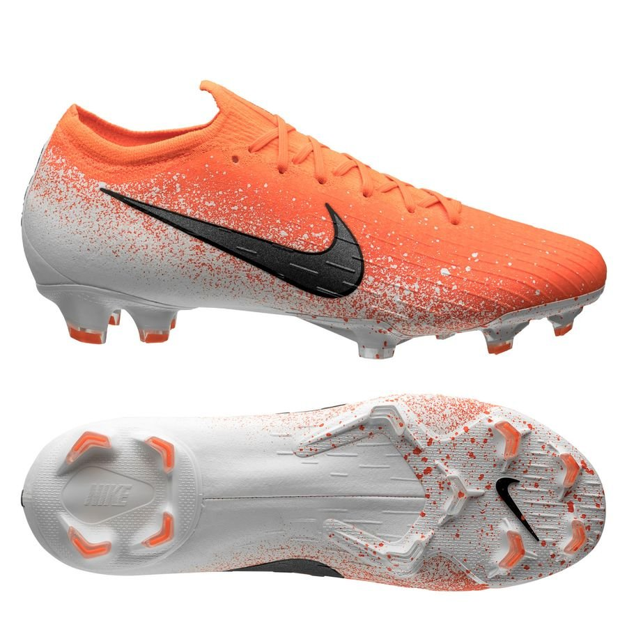 Nike Mercurial Vapor 12 Elite FG - Orange/Hvid