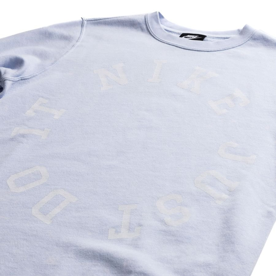 Nike Sweatshirt Nsw Crew Ft Wash Blåhvid