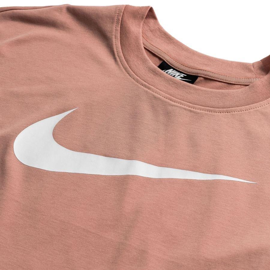 Nike Crop Top NSW Swoosh Rose GoldBlanc Femme