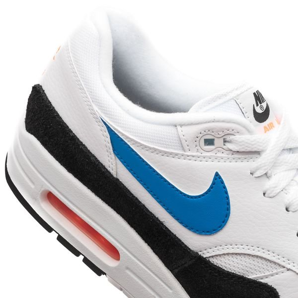 Nike Air Max 1 white photo blue total orange