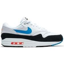 2fa7fe695821 Nike Air Max 1 - Hvid Blå Orange Sort