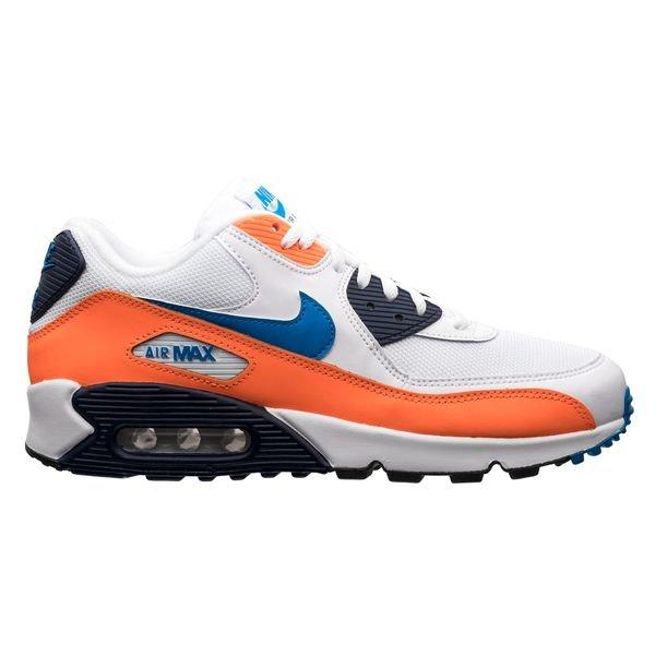 site réputé d7a6b b3f67 Nike Air Max 90 Essential - White/Photo Blue/Total Orange
