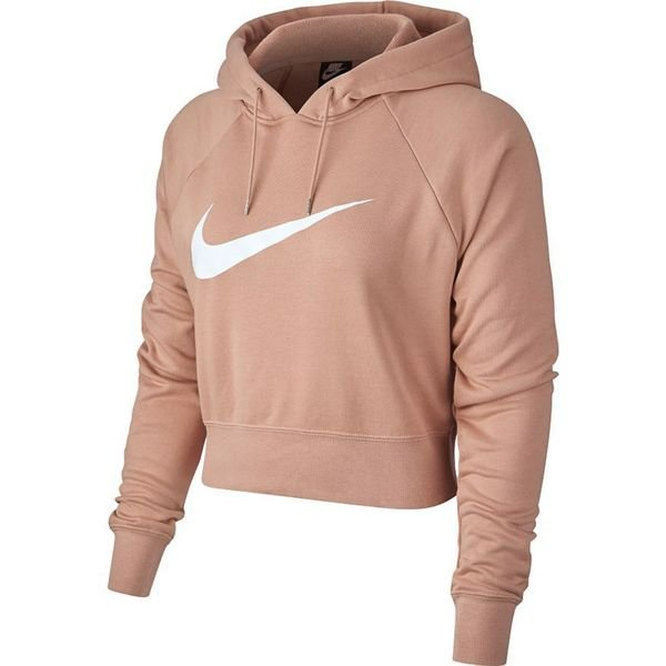 Nike Hoodie NSW FT Crop Rose GoldWhite Woman