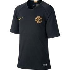 Inter Tränings T-Shirt Breathe Strike - Svart/Guld Barn