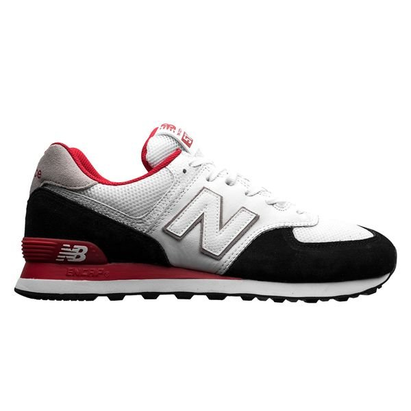 new concept 5d33b 44fdc New Balance 574 - White/Red/Black